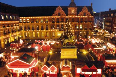 de kerstmarkt in Düsseldorf